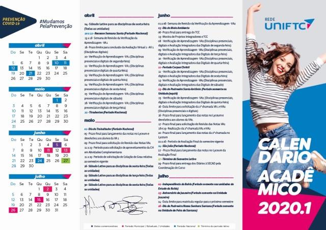 CARTAZ A3_CALENDÁRIO ACADÊMICO 2020.1 (coronavirus)_UniFTC (1) (1) (2)