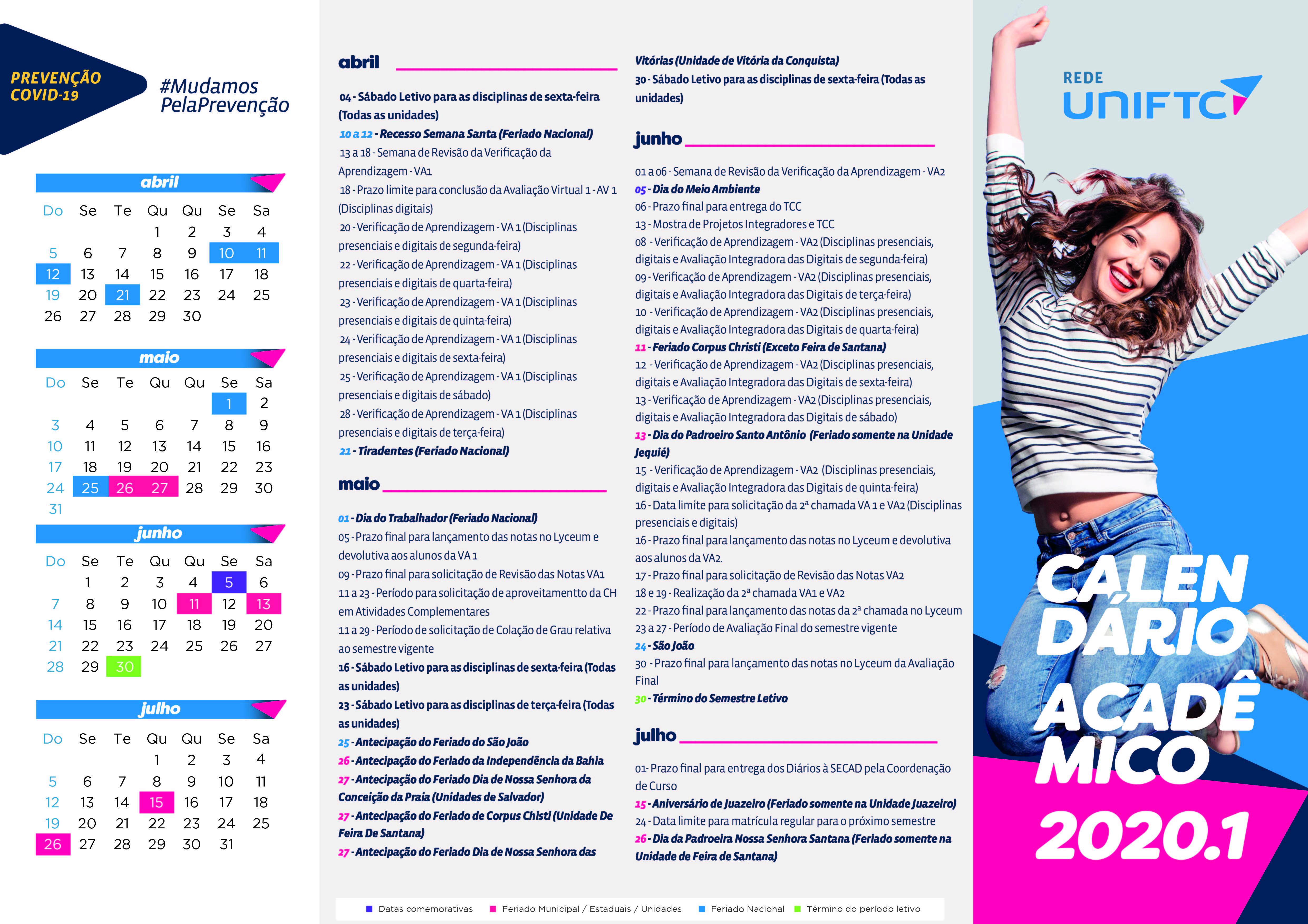 CARTAZ A3_CALENDÁRIO ACADÊMICO 2020.1 (coronavirus) (1)__UniFTC (1)
